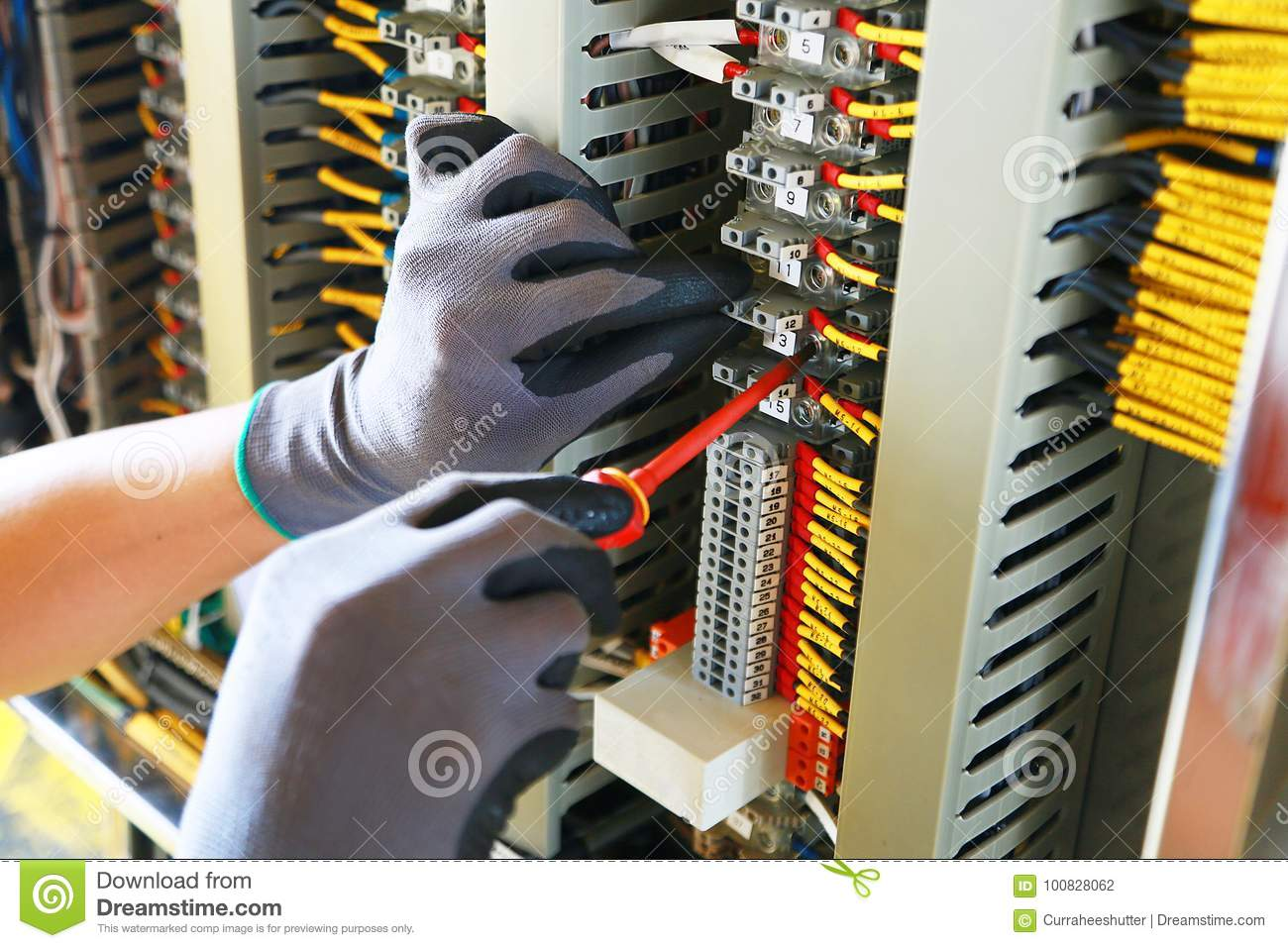 Electrical Terminal In Junction Box And Service By