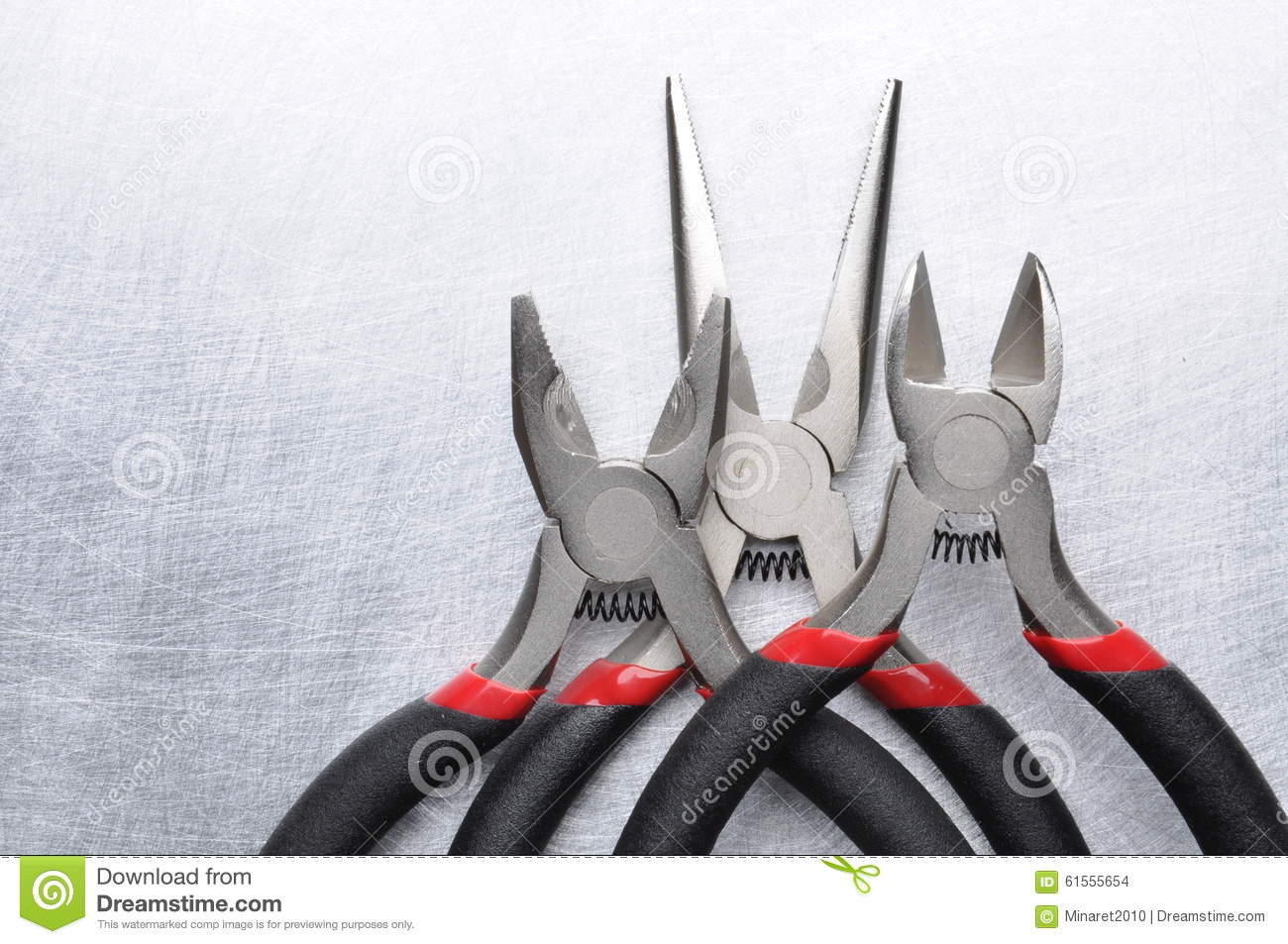 Electrical Tools Wire Cutter, Pliers Stock Photo - Image of ...