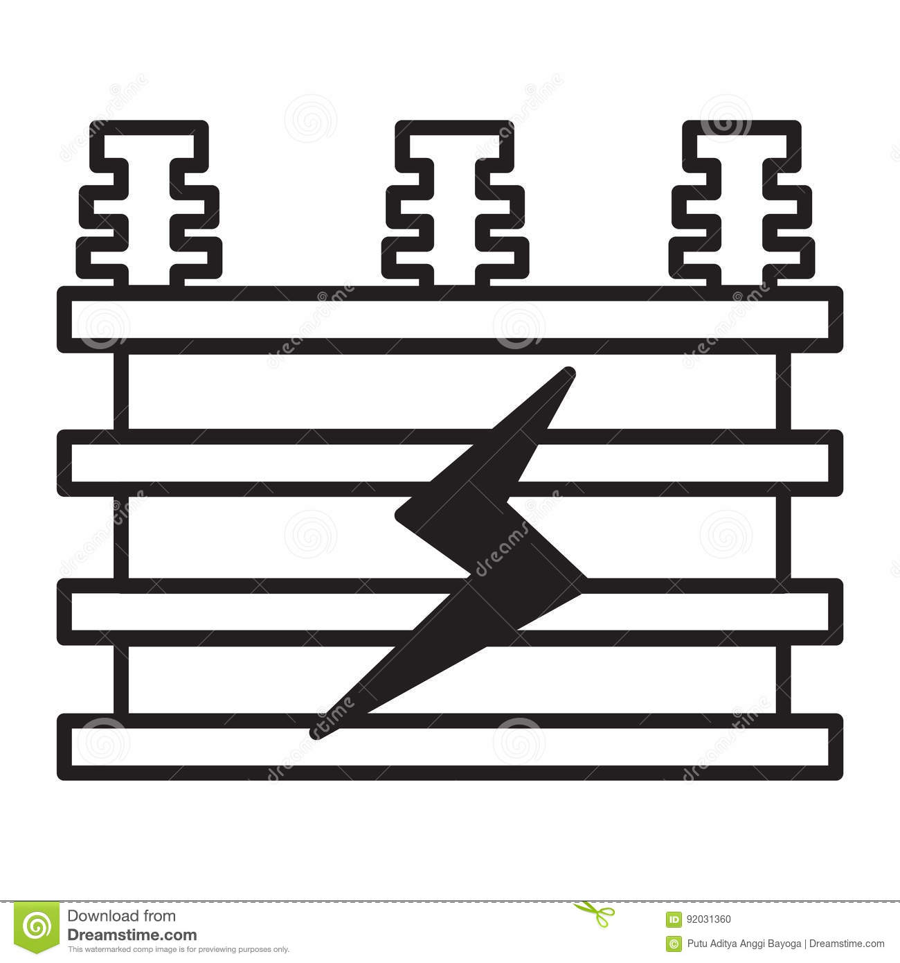 Electrical Transformer Icon Stock Vector - Illustration of cartoon ...