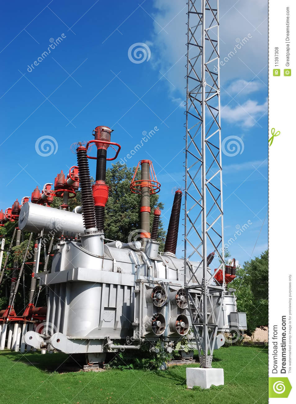 Electrical Transformer Substation Royalty Free Stock
