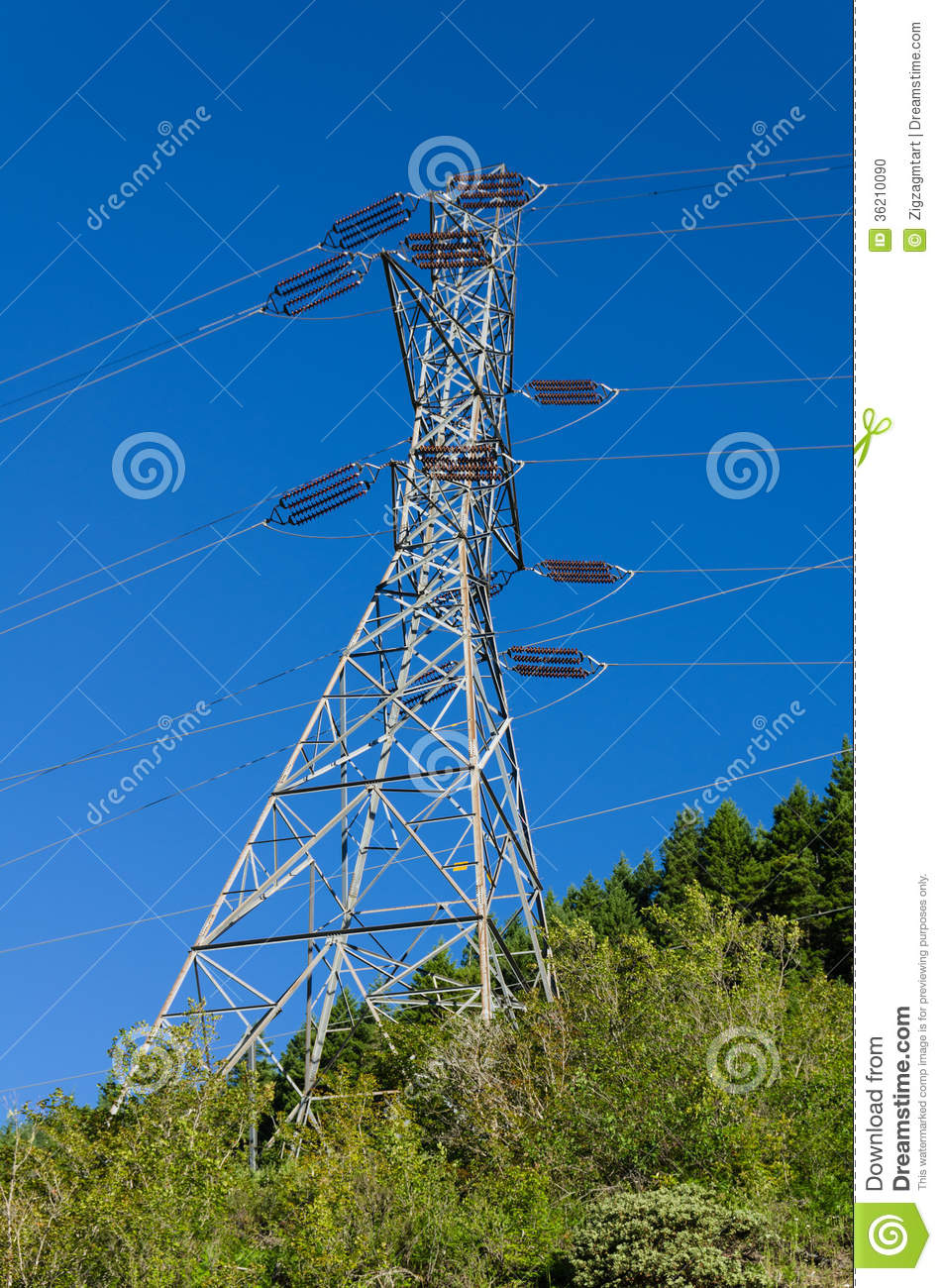 Electrical Transmission Tower To Support Power Lines Electrcial Supports High Tension