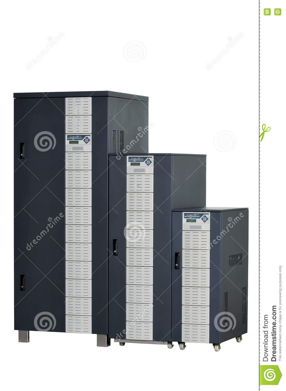 Electrical Ups And Control Panel Stock Image - Image of switch ...