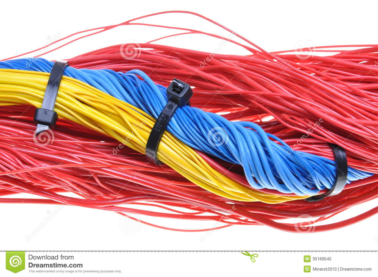 electrical wires with cable ties