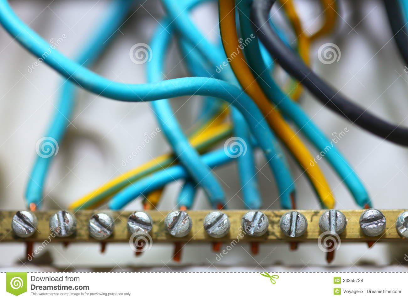 Electrical Wires At Construction Site Stock Photo - Image of wiring ...