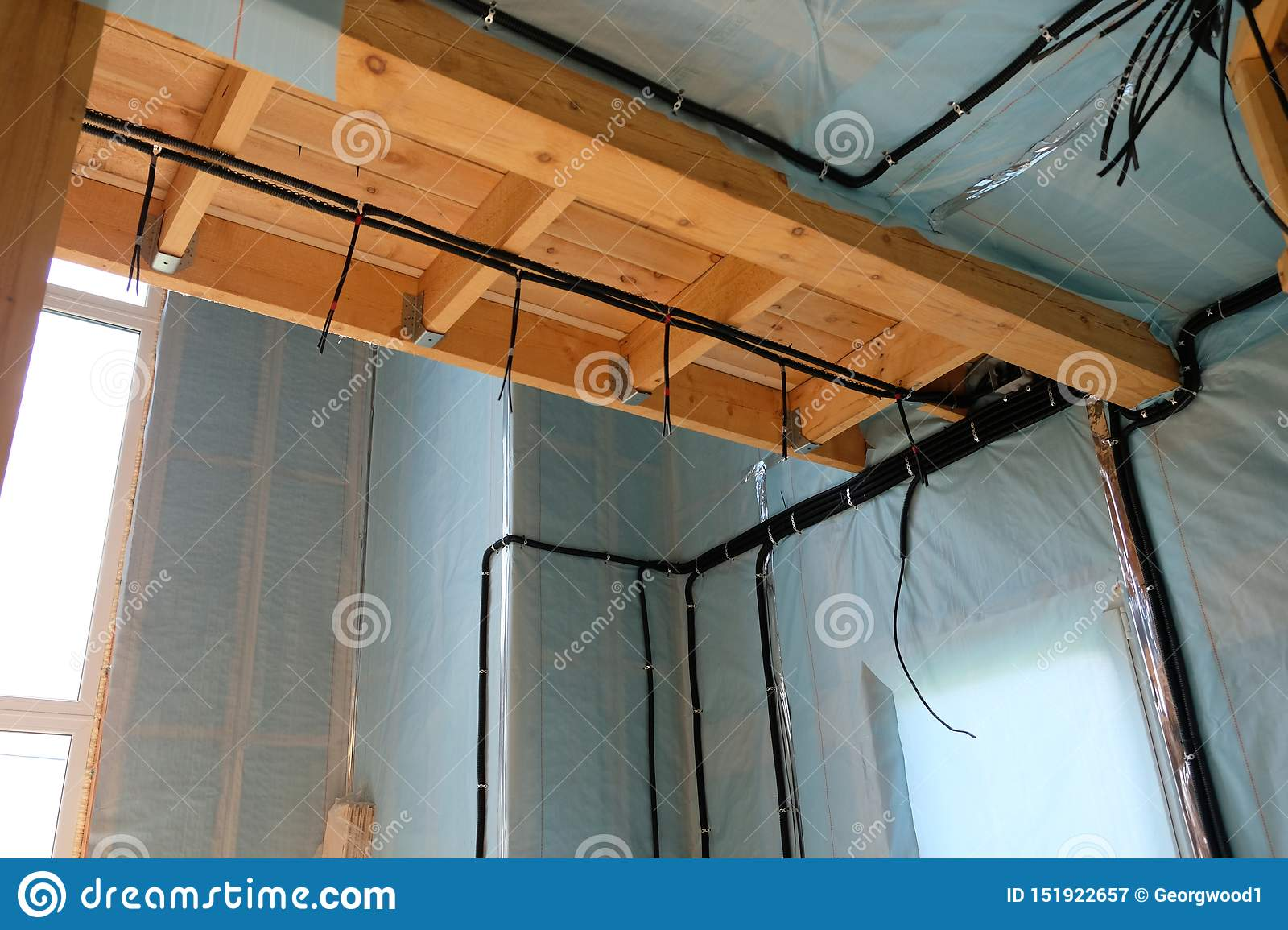 Electrical Wires In The House Stock Image Image Of Work Construction 151922657