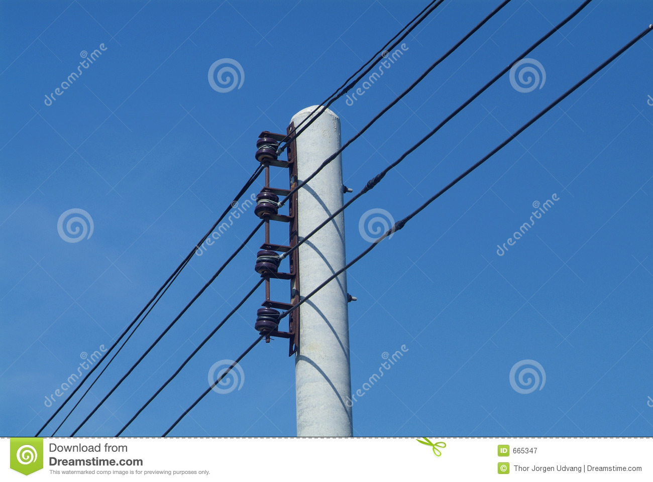 Wire Electric Power : Electrical wires on pole stock image of power grid