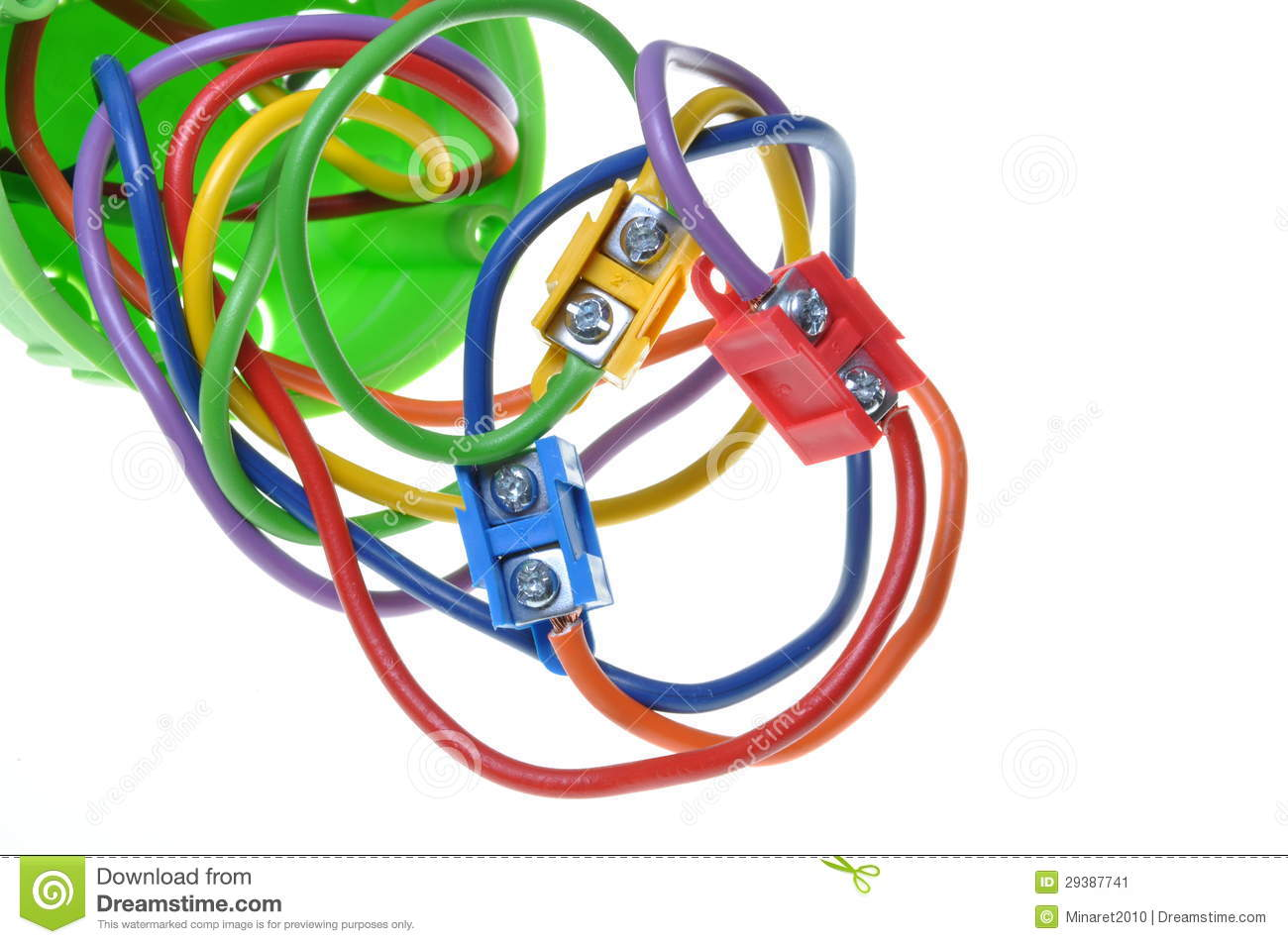 Electrical Wires In Wall Socket Stock Image Of Electric Wiring A