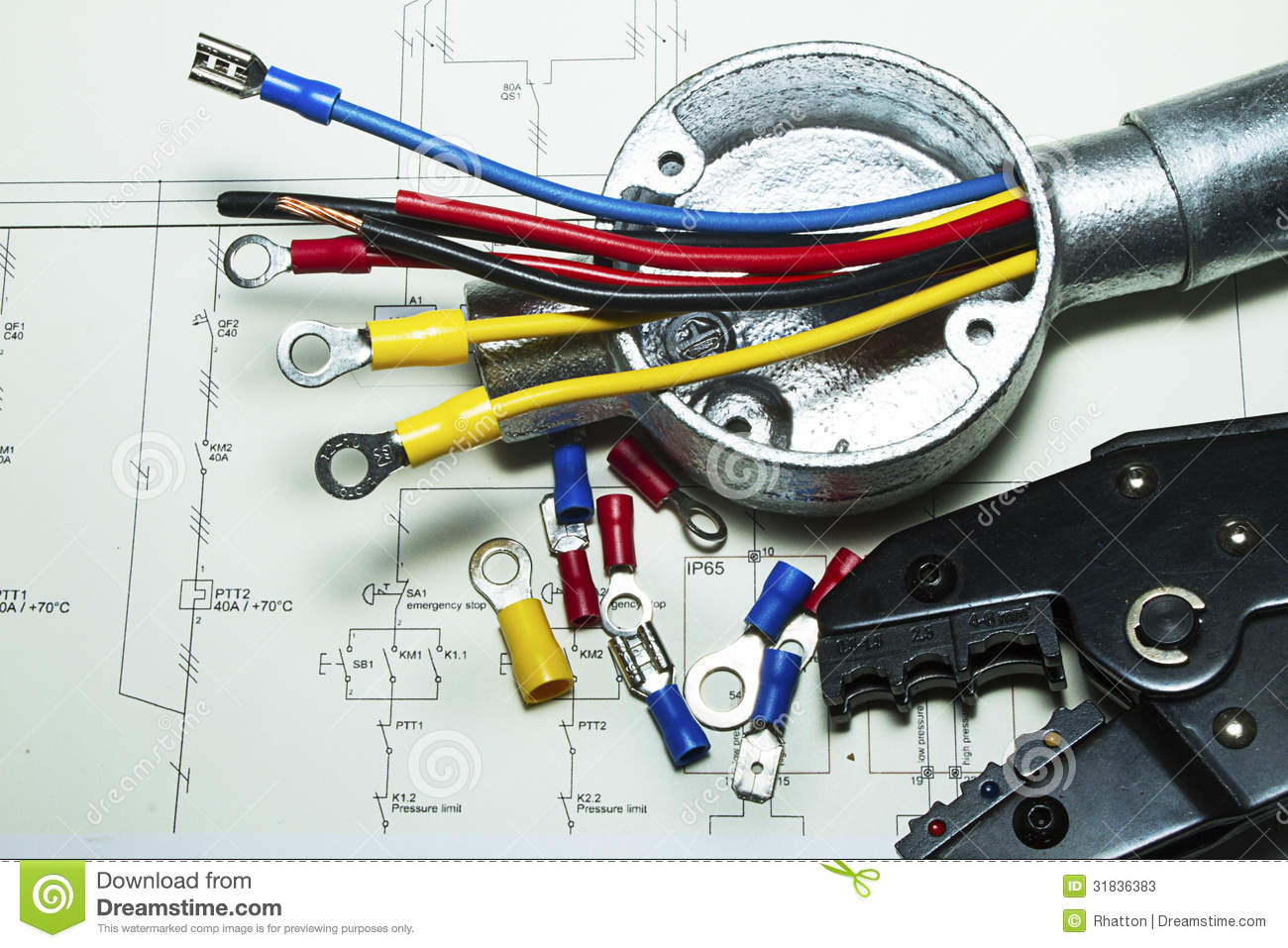 Electrical wiring stock photos image 31836383 for Electrical wiring new construction