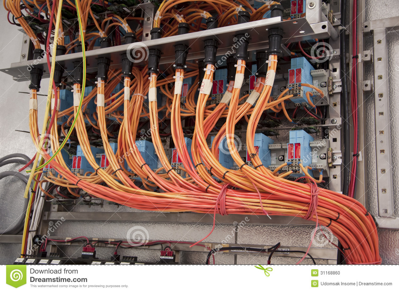 electrical wiring control panel stock photo image of floor line rh dreamstime com industrial electrical panel wiring pdf industrial electrical panel wiring diagram