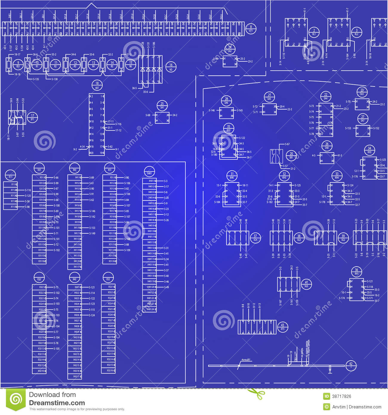 Electrical Wiring Diagram Background Stock Vector Illustration Of Explained