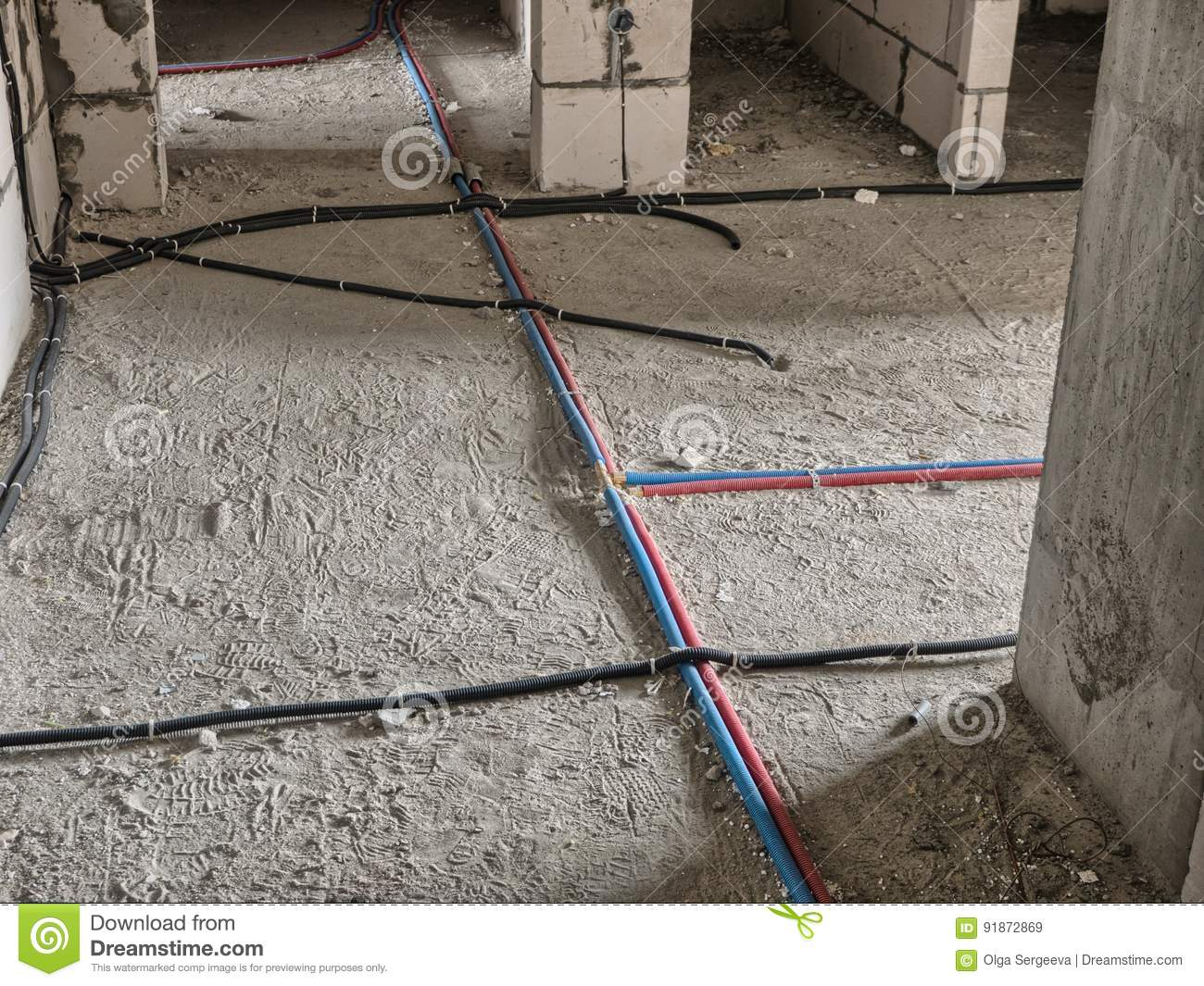 Electrical Wiring On The Floor Stock Image Of Background A Peanut Relay