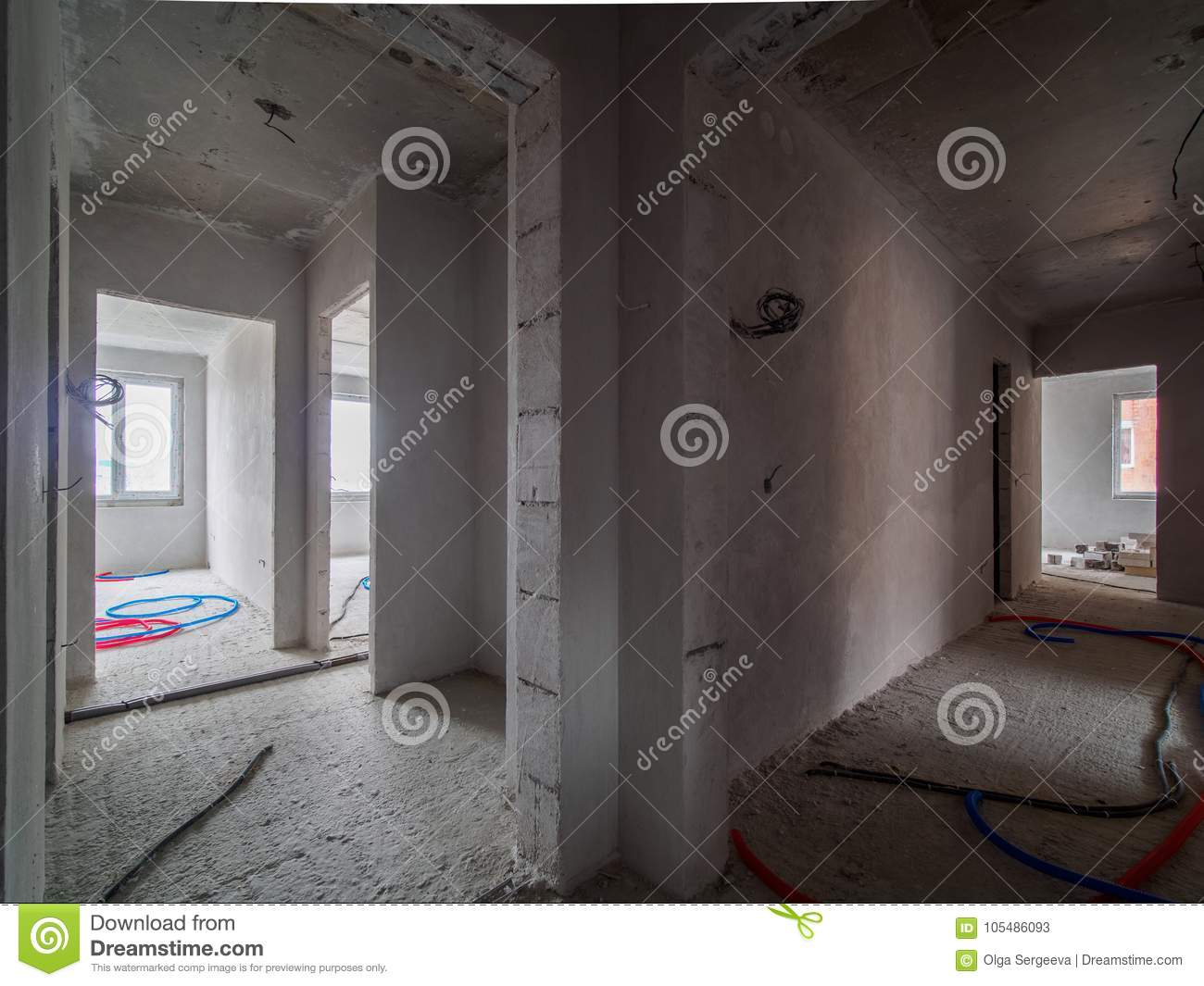 Electrical Wiring On The Floor Stock Image - Image of installation ...