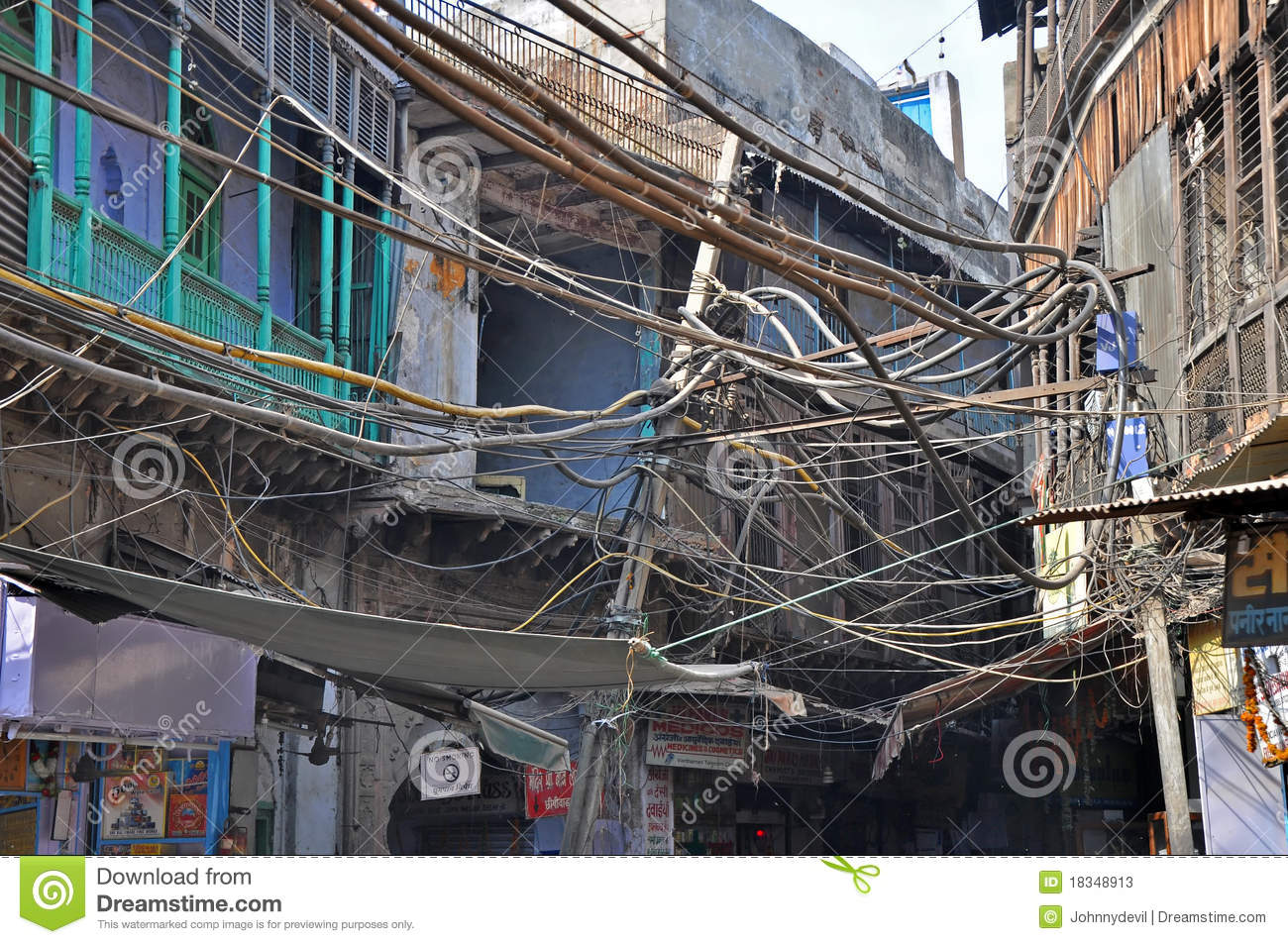 indian street electrical wiring stock photo image of hangs supply rh dreamstime com India Internet Wiring Utility Mess of Wires India