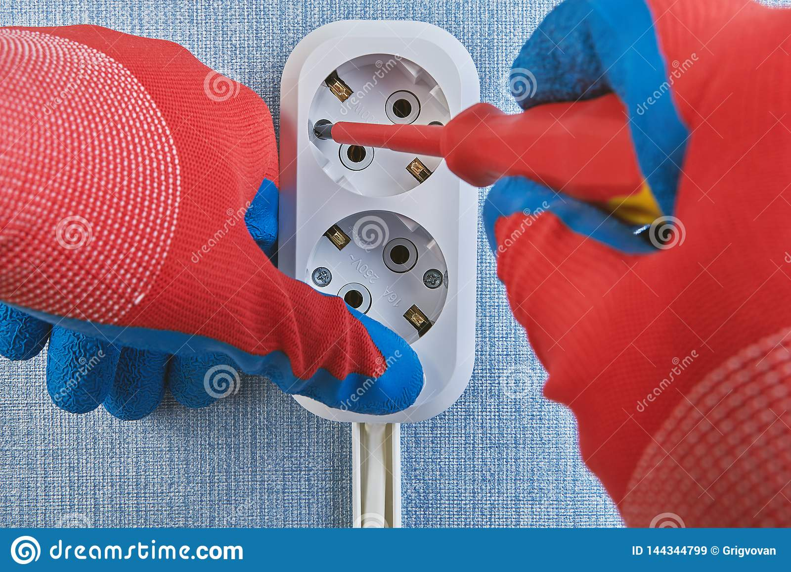 Strange Electrical Wiring Installation Twisting Screws Of Outlet Stock Wiring Digital Resources Bemuashebarightsorg