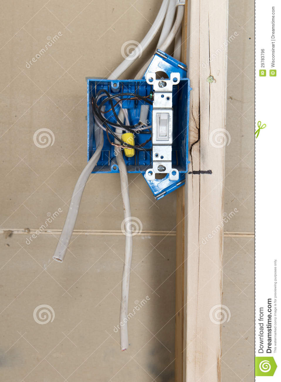 Electrical Home Wiring Outlet Box Stock Photo Image Of Improvement A New