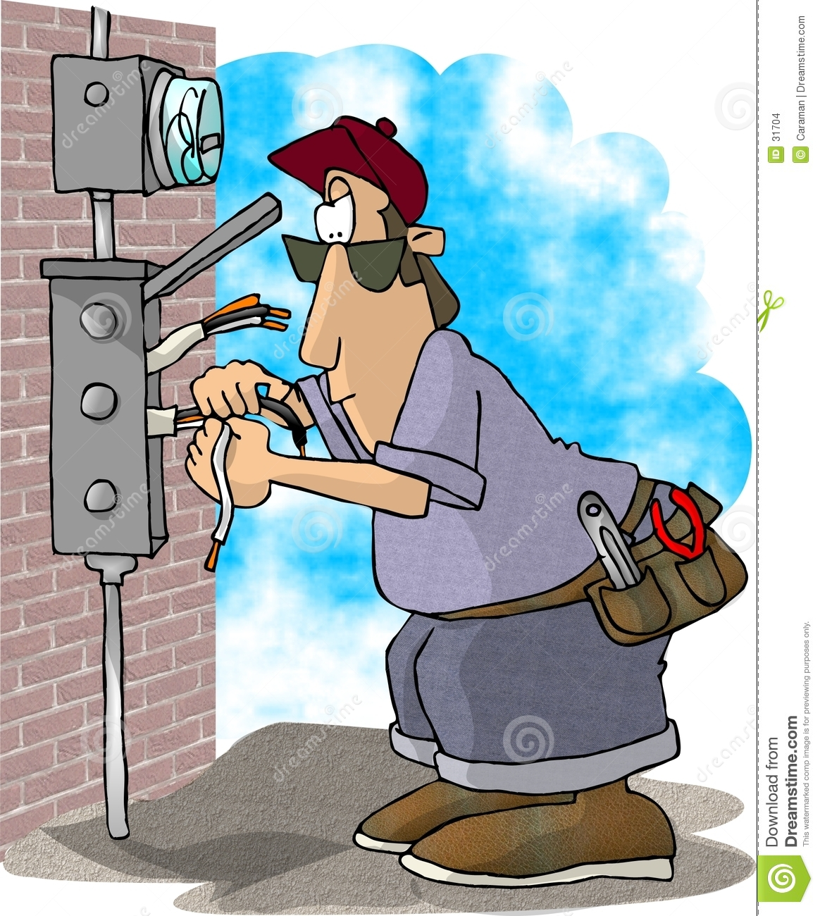 Download Electrician Stock Illustration Of Humor Vocation