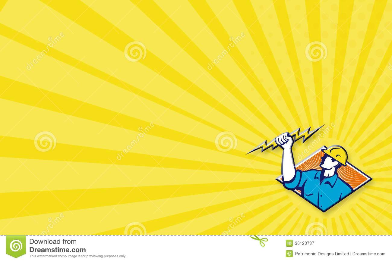 Electrician construction worker retro stock illustration royalty free stock photo reheart Image collections