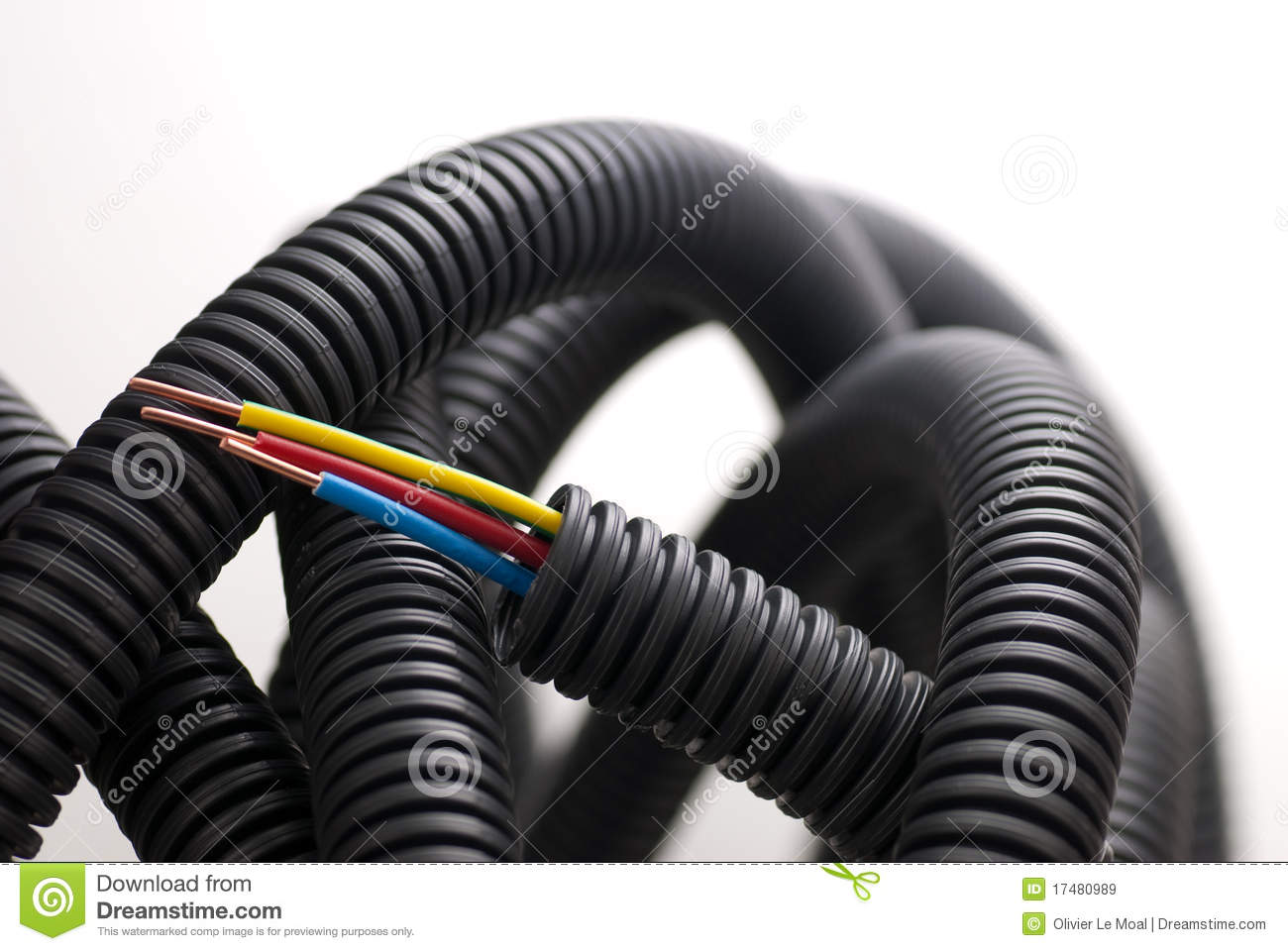 Electrician copper cables