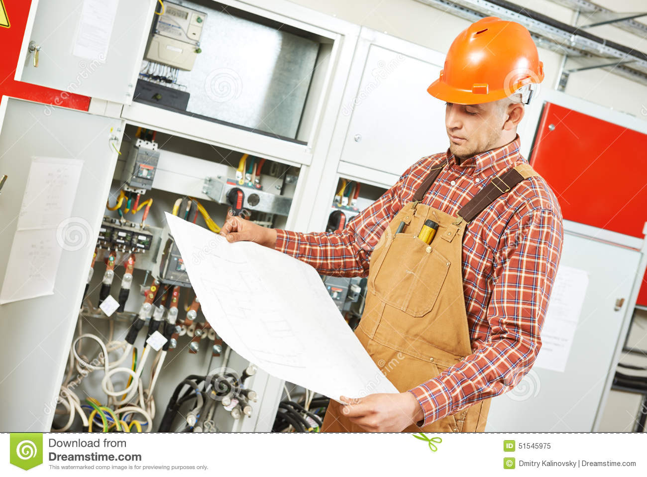 electrician engineer worker stock photo image 51545975 home wiring drawing audio wiring drawing