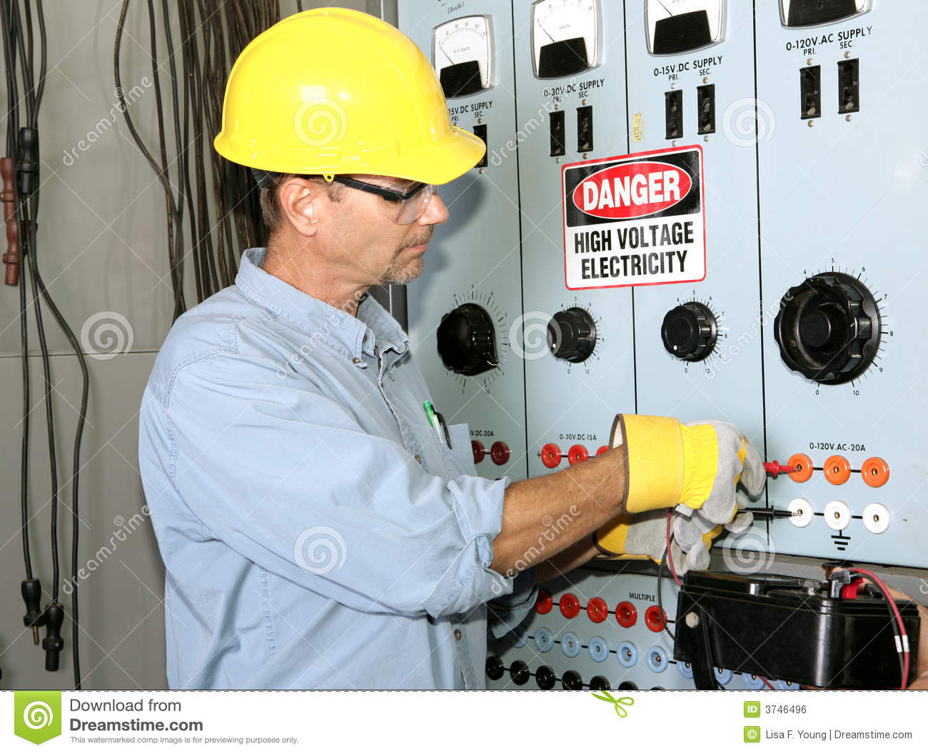 Electrician High Voltage Royalty Free Stock Image - Image: 3746496
