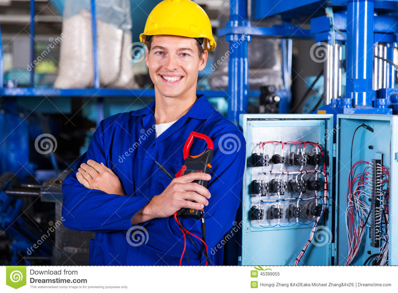 Electrician holding insulation
