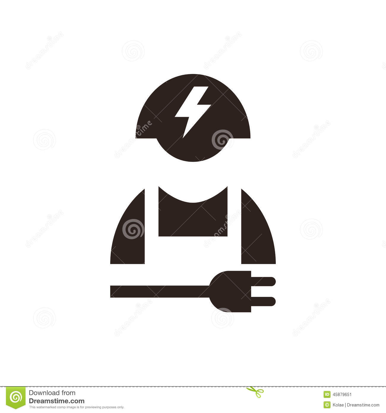 electrical plug silhouette with Stock Illustration Electrician Icon Isolated White Background Image45879651 on Royalty Free Stock Photo Plug Socket Image20870825 also Replace Front Crankshaft Oil Seal Gm 3 1l V6 318113 likewise Funny irish anti obama t shirts 235104182795097528 in addition Electrician Construction Worker Lightning Bolt further Mop Tool To Clean Floors 718391.