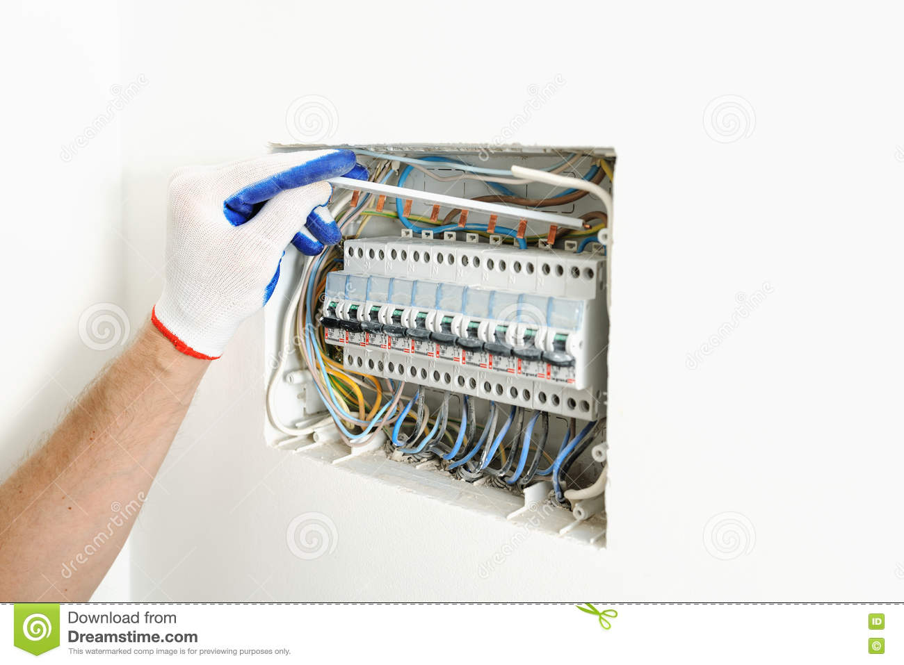 House Electrical Fuse Boxes Wiring Library Proper Electrician Installing An Box