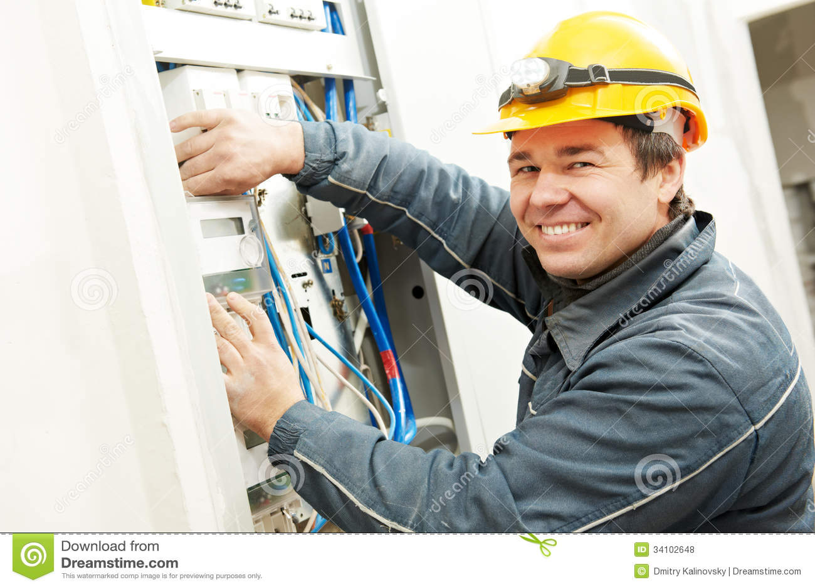 Electrician Installing Energy Saving Meter Royalty Free Stock Photos ...
