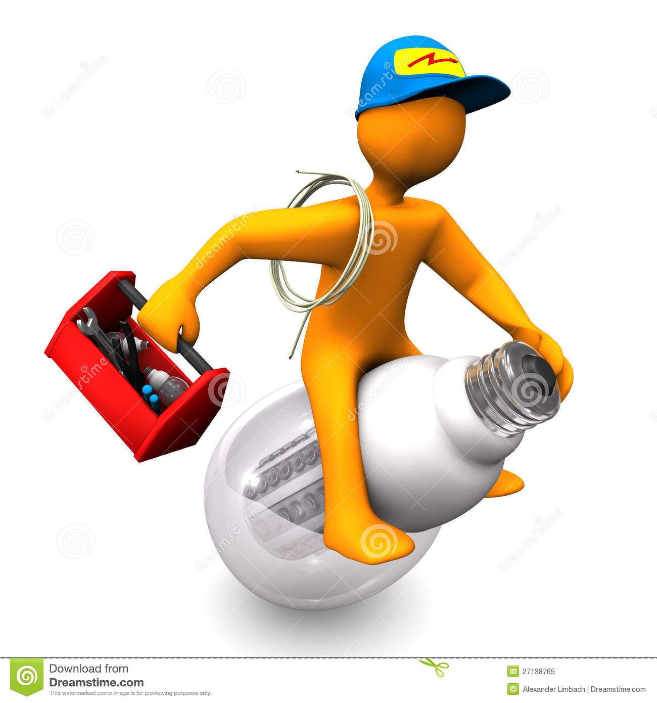 Electrician Rides Royalty Free Stock Photo Image 27138765