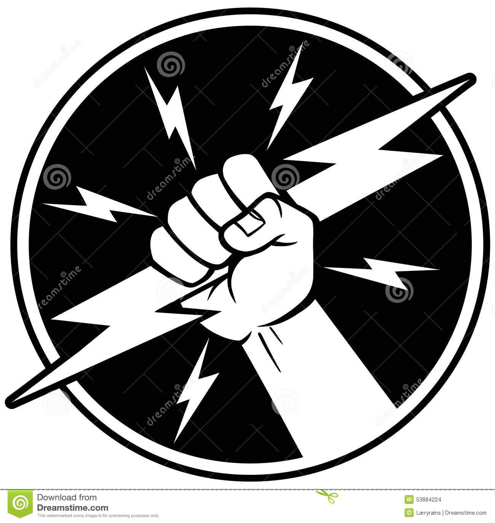 Electrician Symbol Stock Vector Image 53884224
