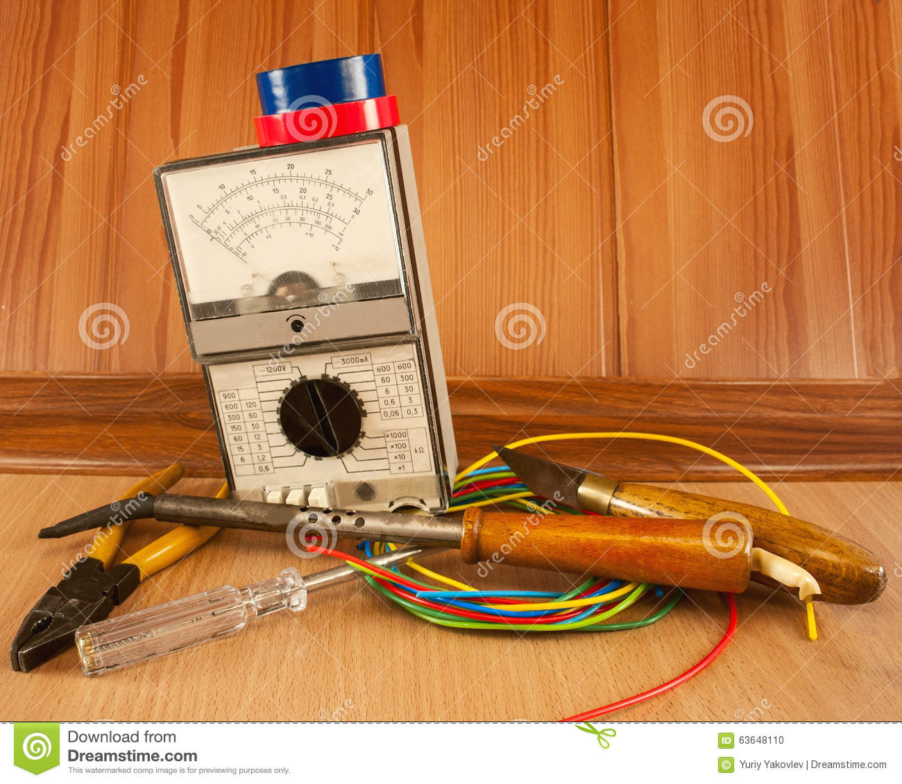 Electrician Tool Master Stock Photo Image Of Electric 63648110 Repair Wire Harness Wiring
