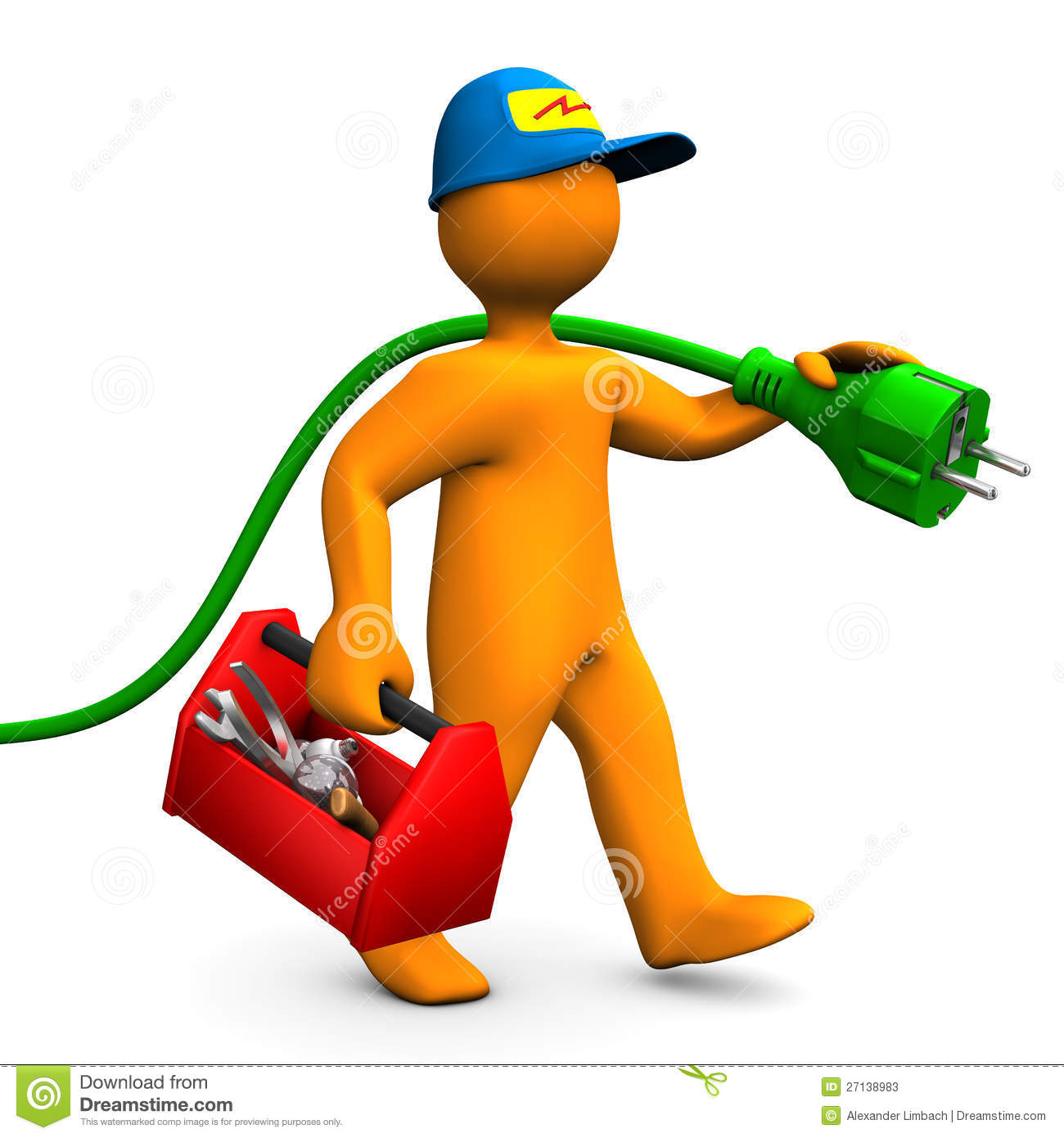Clip Art Electrician Clipart electrician stock illustrations 3967 with toolbox and connector photos