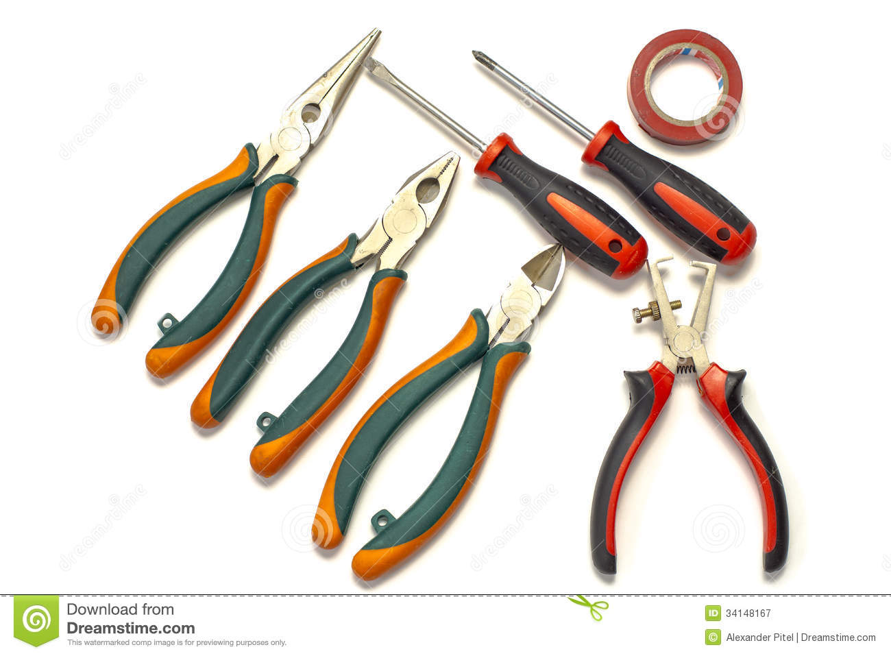 Electrician Tools Stock Image Image Of Currant Cutter