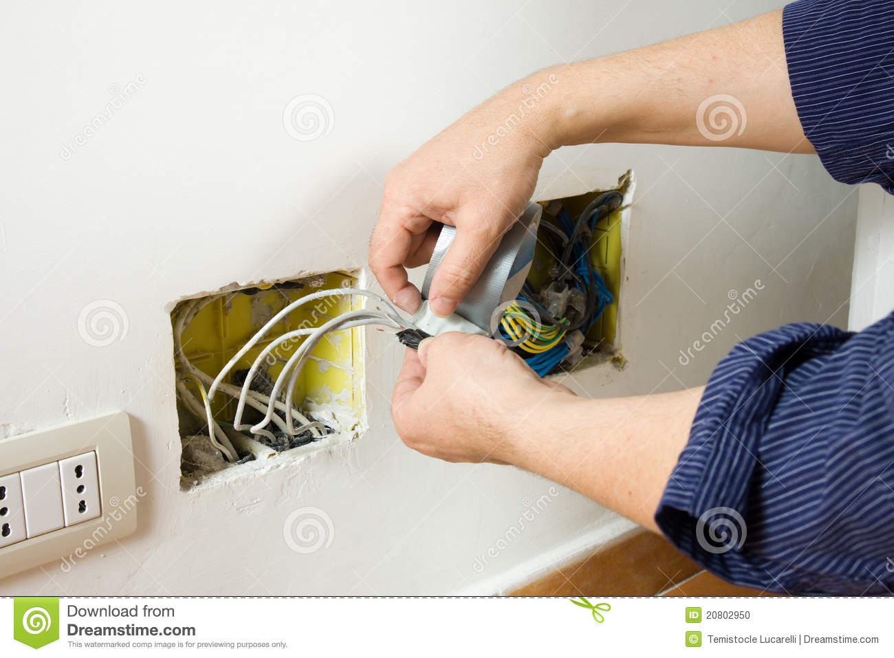 Electrician At Work Stock Photo - Image: 20802950