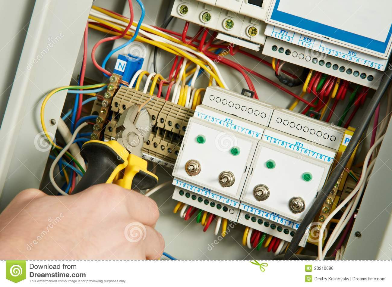 electrician at work royalty free stock image image 23210686. Black Bedroom Furniture Sets. Home Design Ideas