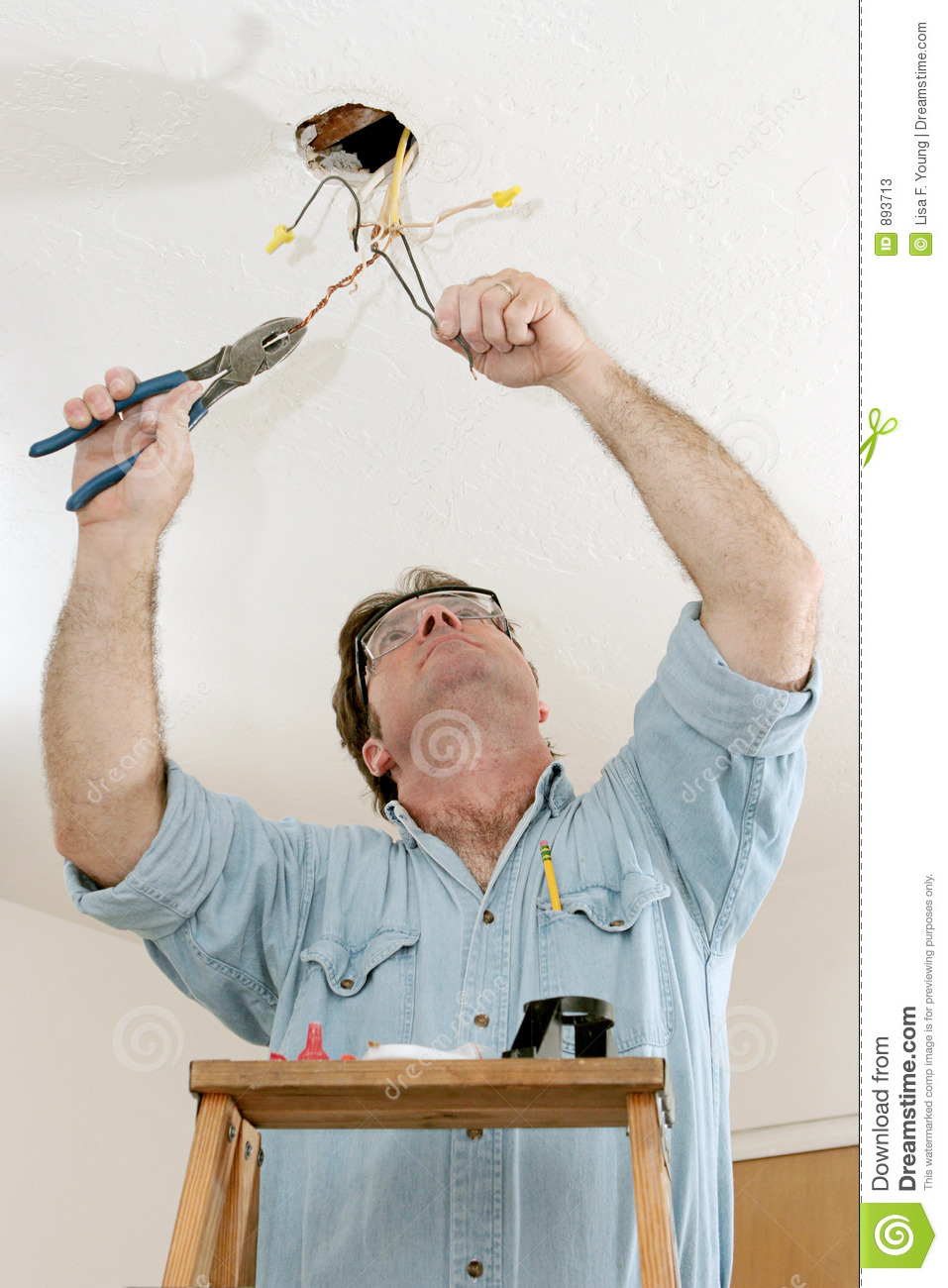 Electrician At Work Stock Photos Image 893713