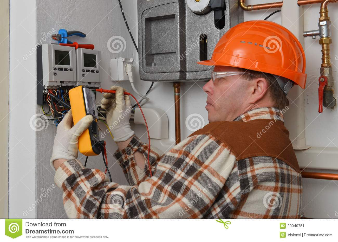 Electrician At Work Stock Image Image 30040751