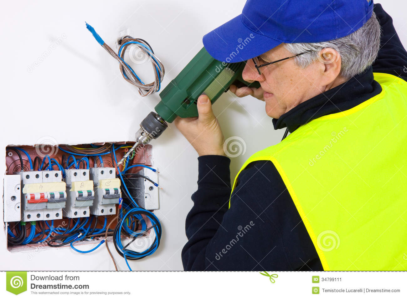 Electrician At Work Stock Image Image 34799111