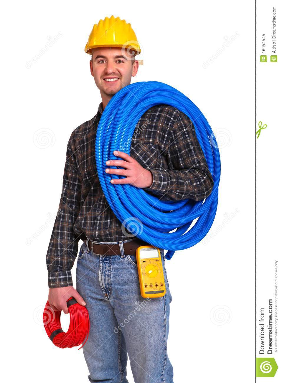 Electrician Worker. Royalty Free Stock Photo - Image: 16054545