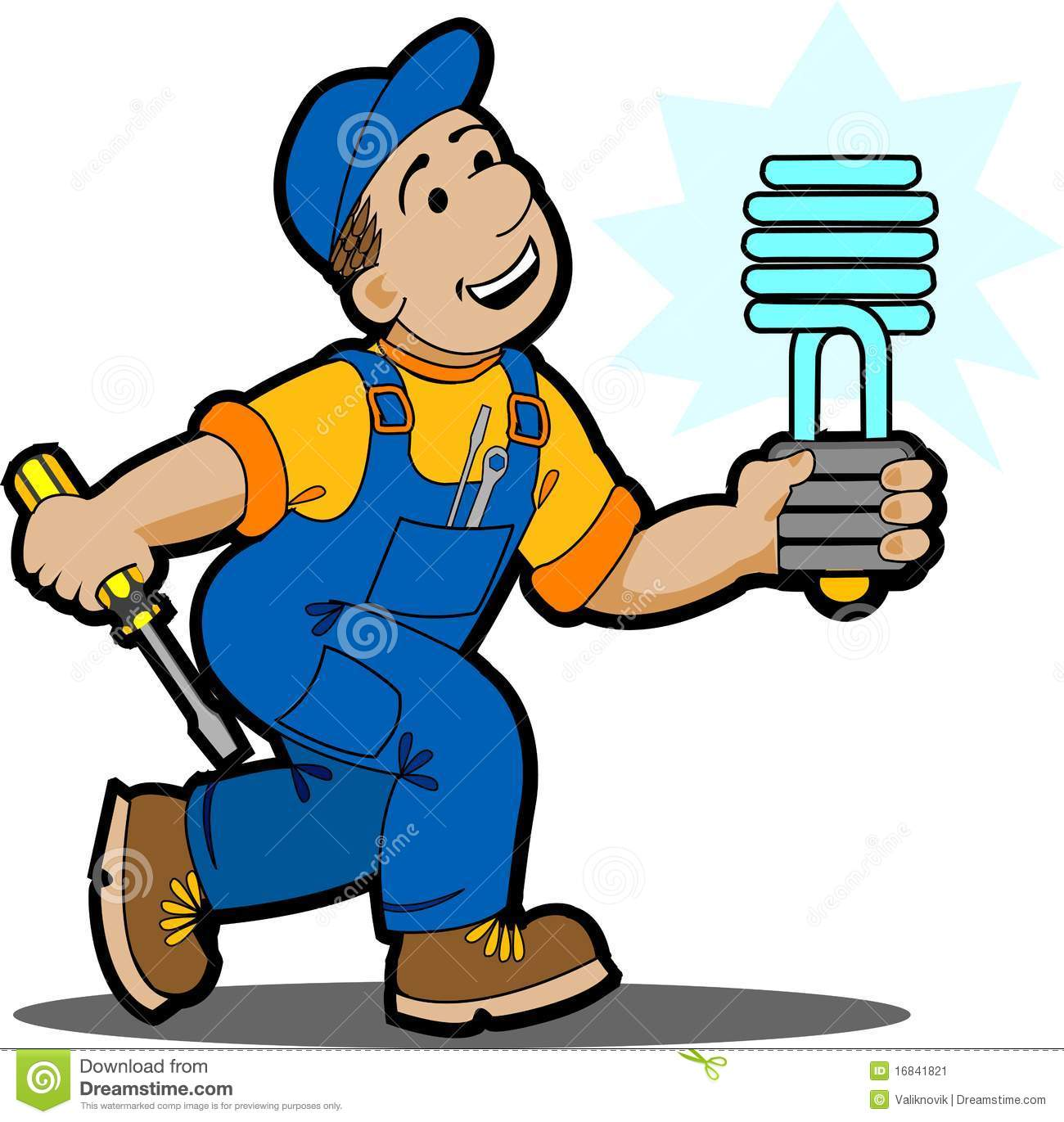Electrician Worker Stock Vector Illustration Of