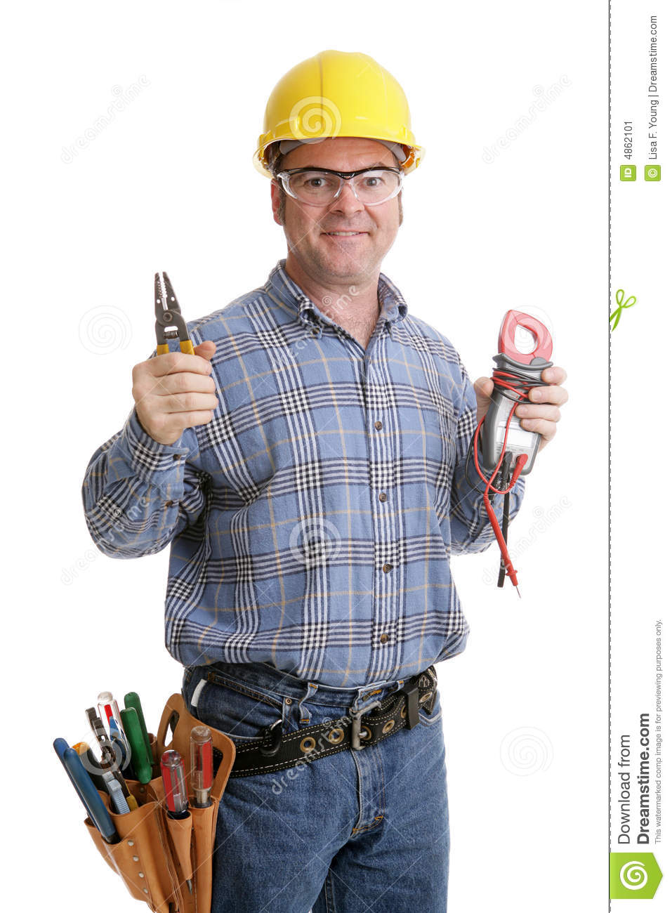 Electricians Tools Stock Image - Image: 4862101