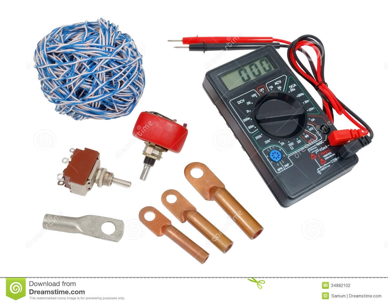 Electricians Tools Stock Photography - Image: 34882102