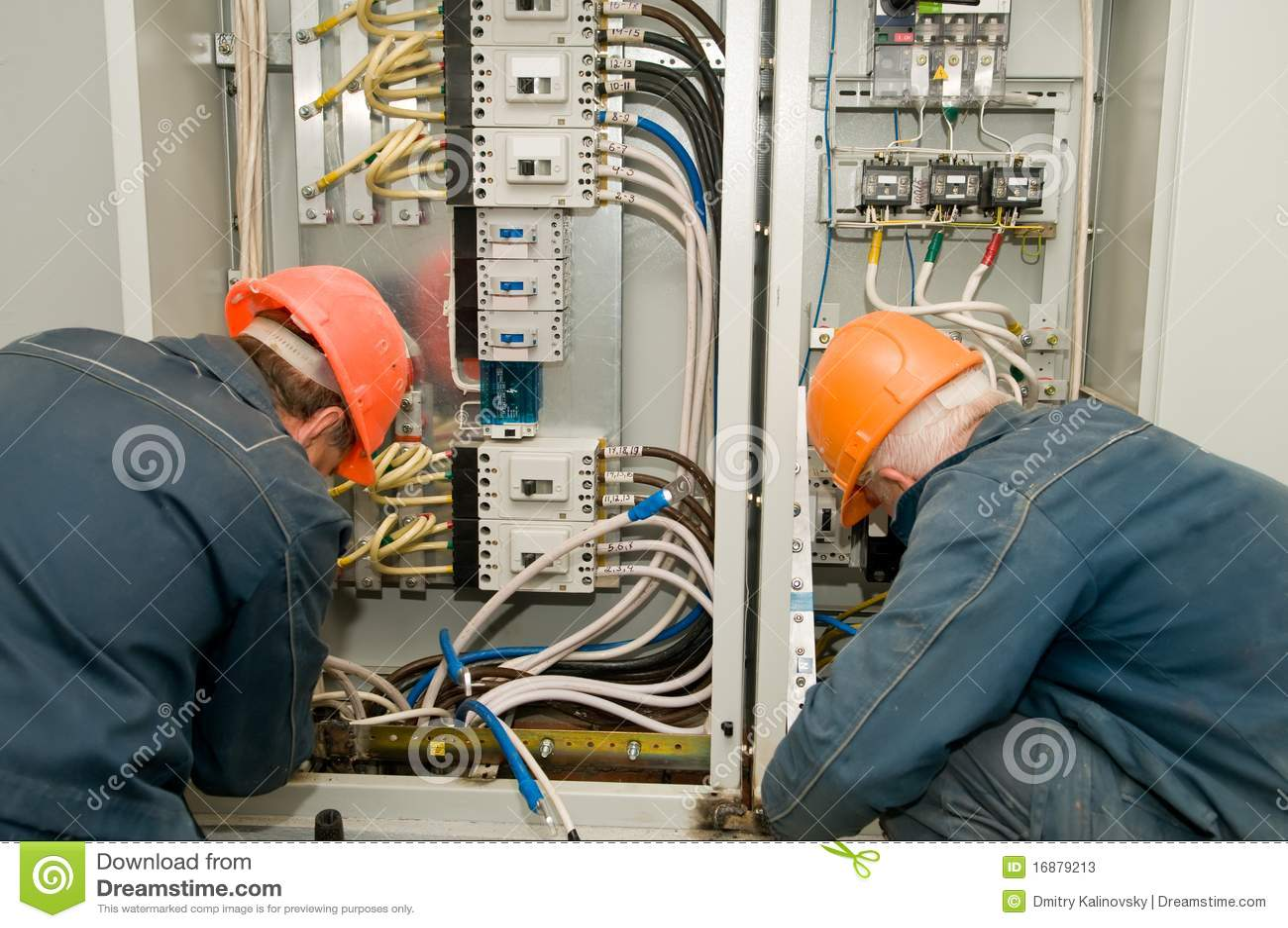 Electricians At Work Stock Photos Image 16879213