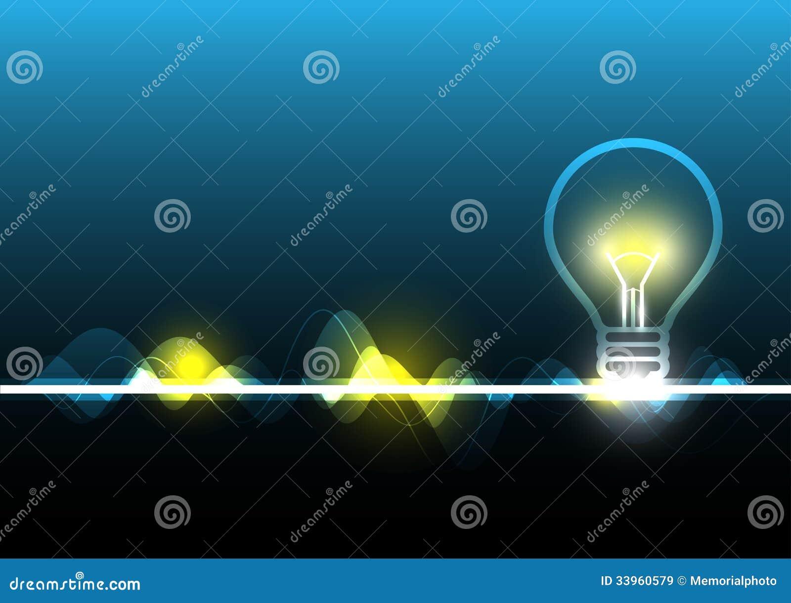Electricidad abstracta y bombilla im genes de archivo for Electricidad
