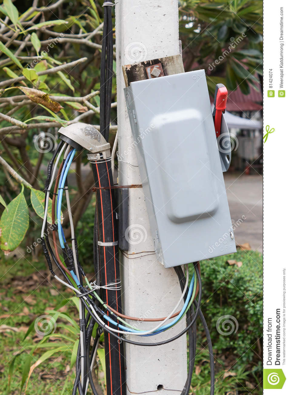Marvelous Electricity Breaker Box Stock Photo Image Of Outside 81424074 Wiring Digital Resources Remcakbiperorg