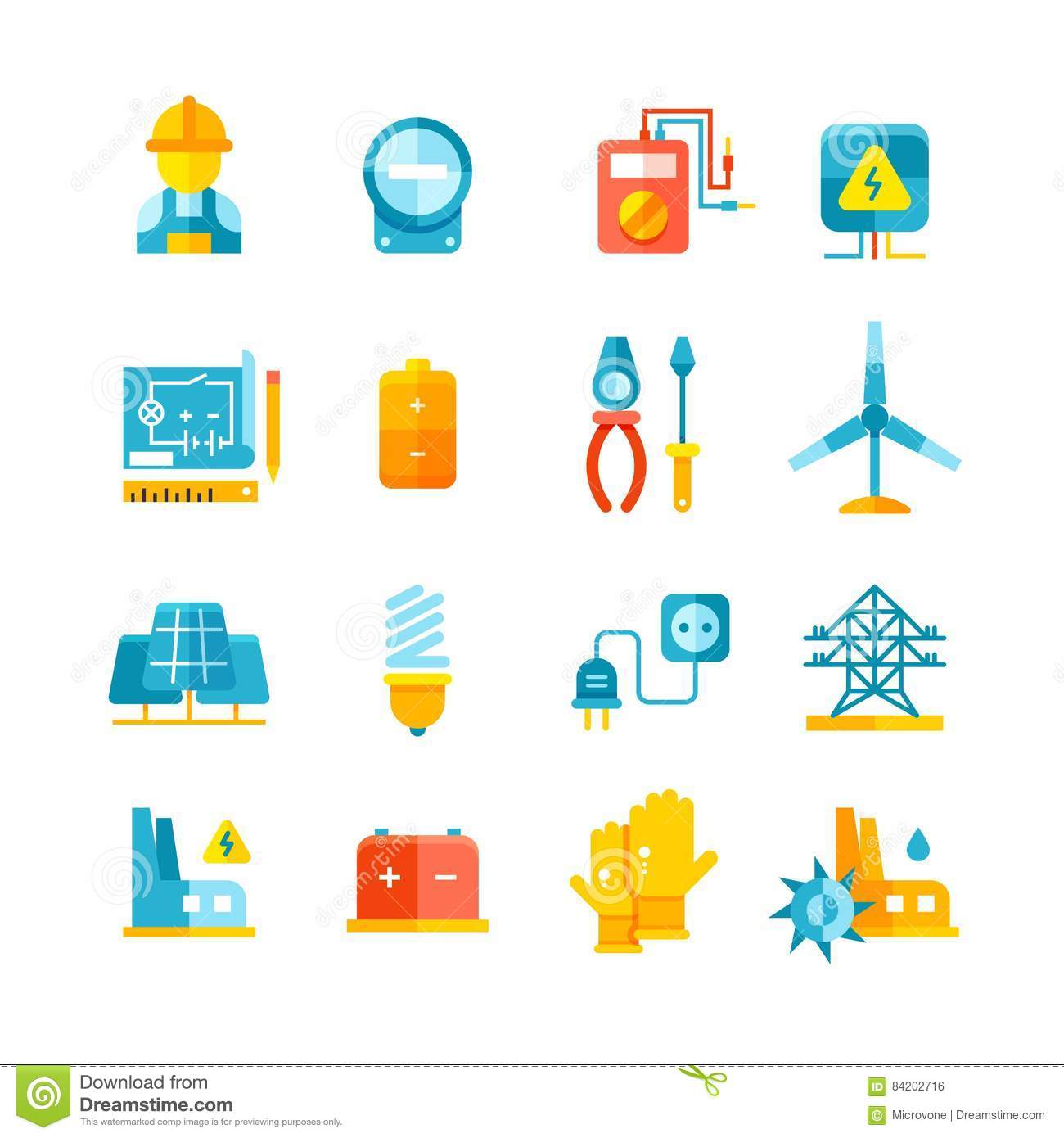 Electricity, Electric Meter, Electrical Equipment Flat ...