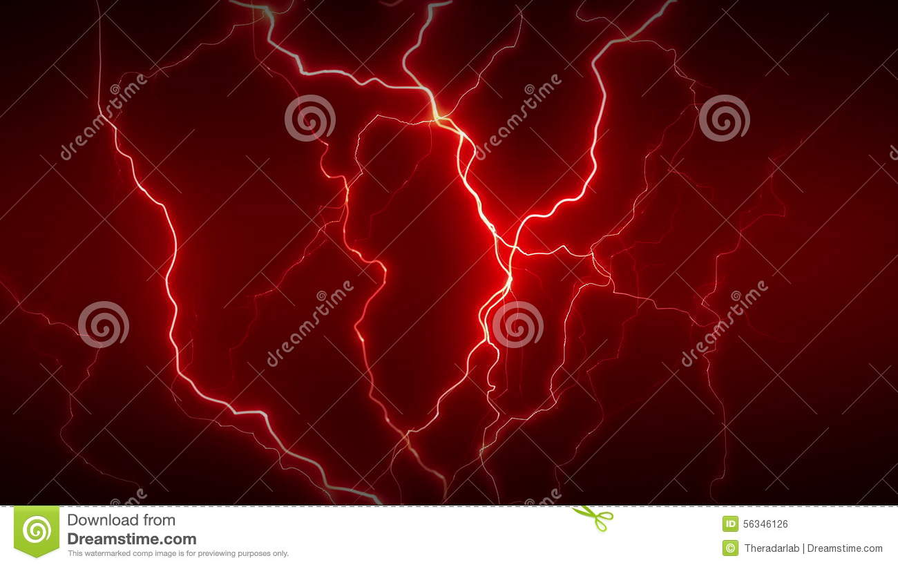 Electricity Full Red stock footage. Illustration of discharge - 56346126