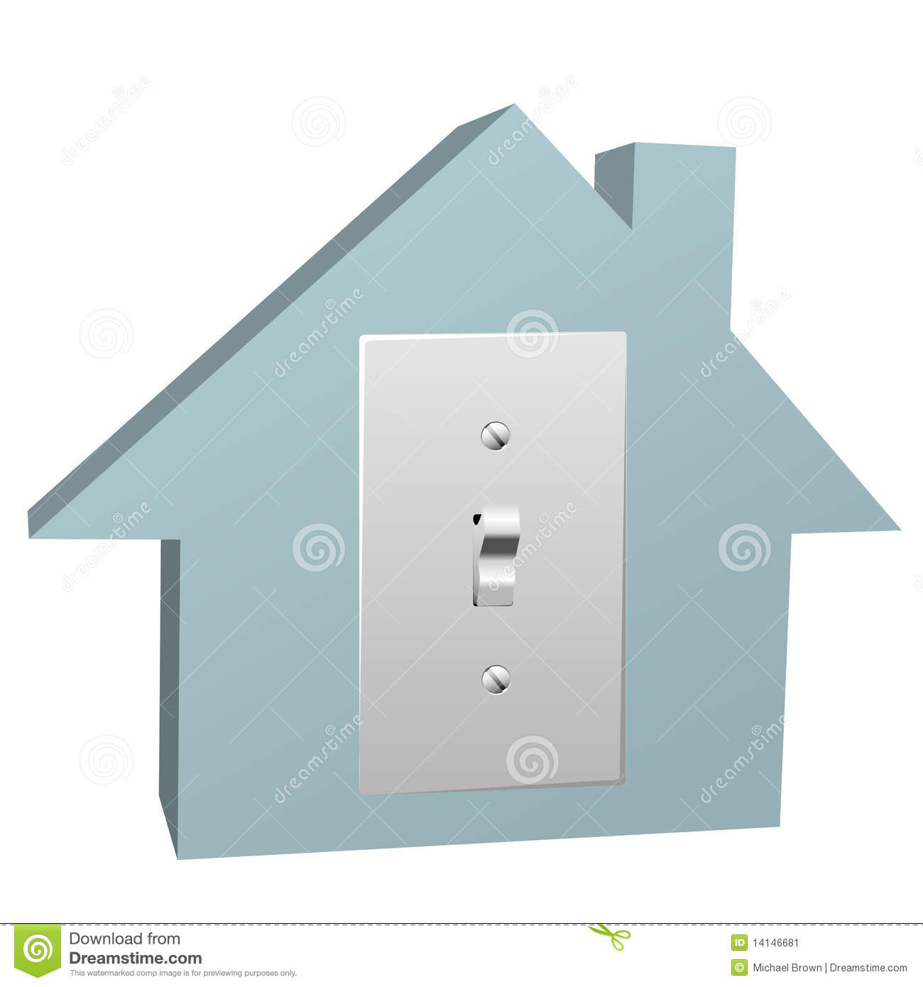 Electricity House Switch On Electric Light At Home Stock Vector ...