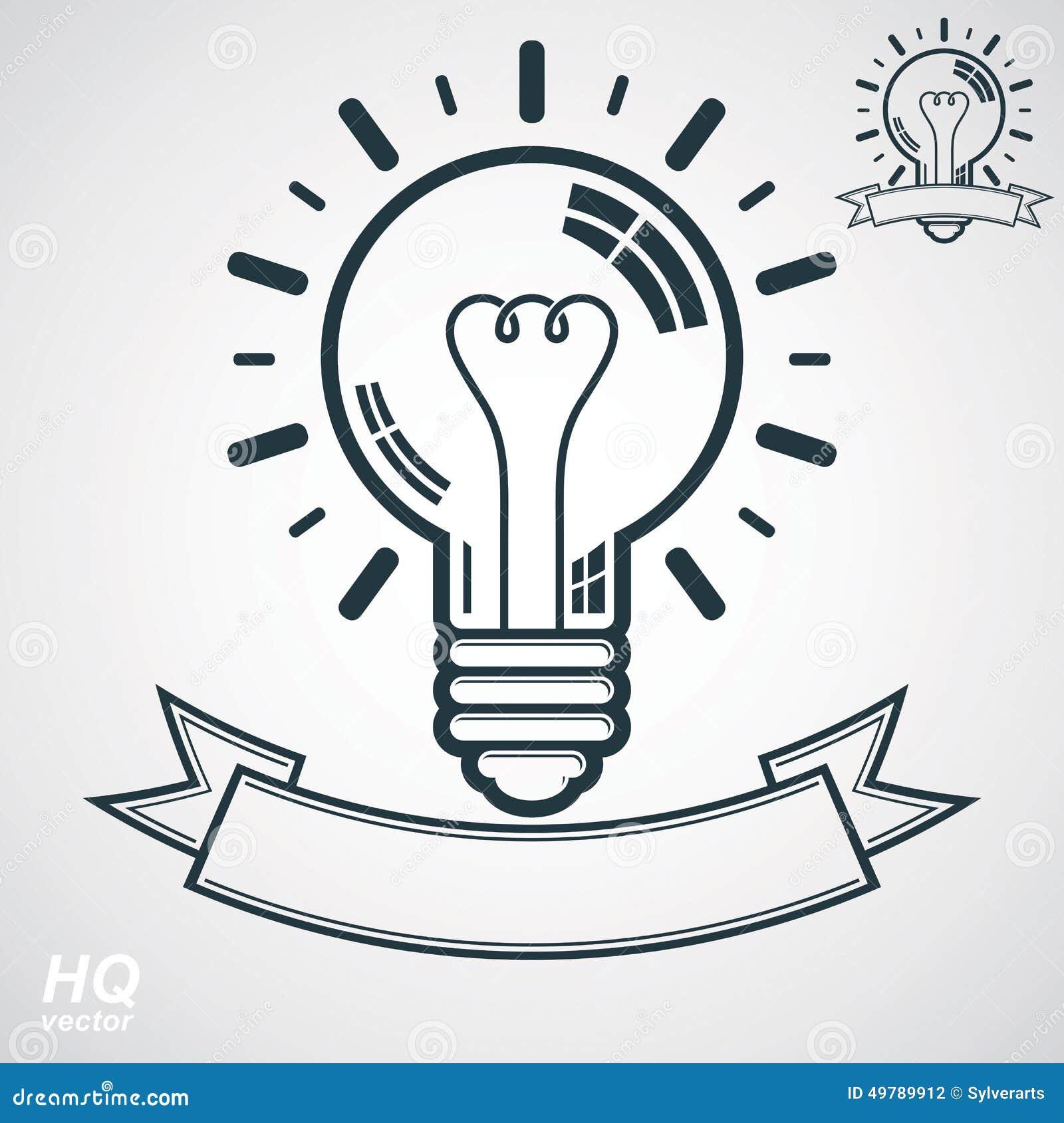 Electricity light bulb symbol insight emblem vector brain storm electricity light bulb symbol insight emblem vector brain storm conceptual icon corporate problem solution theme buycottarizona