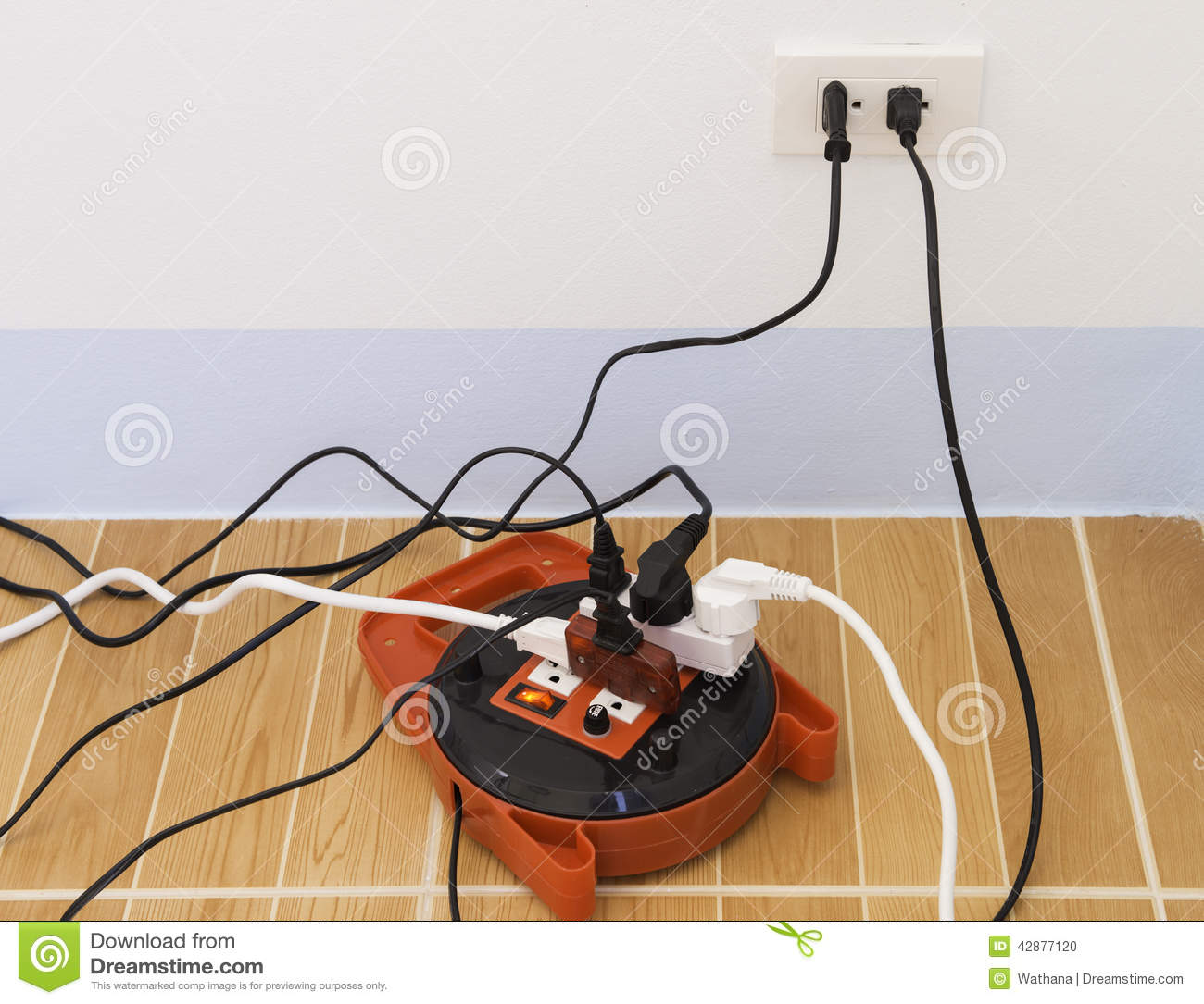 Electricity overload stock photo. Image of utility, outlet ...